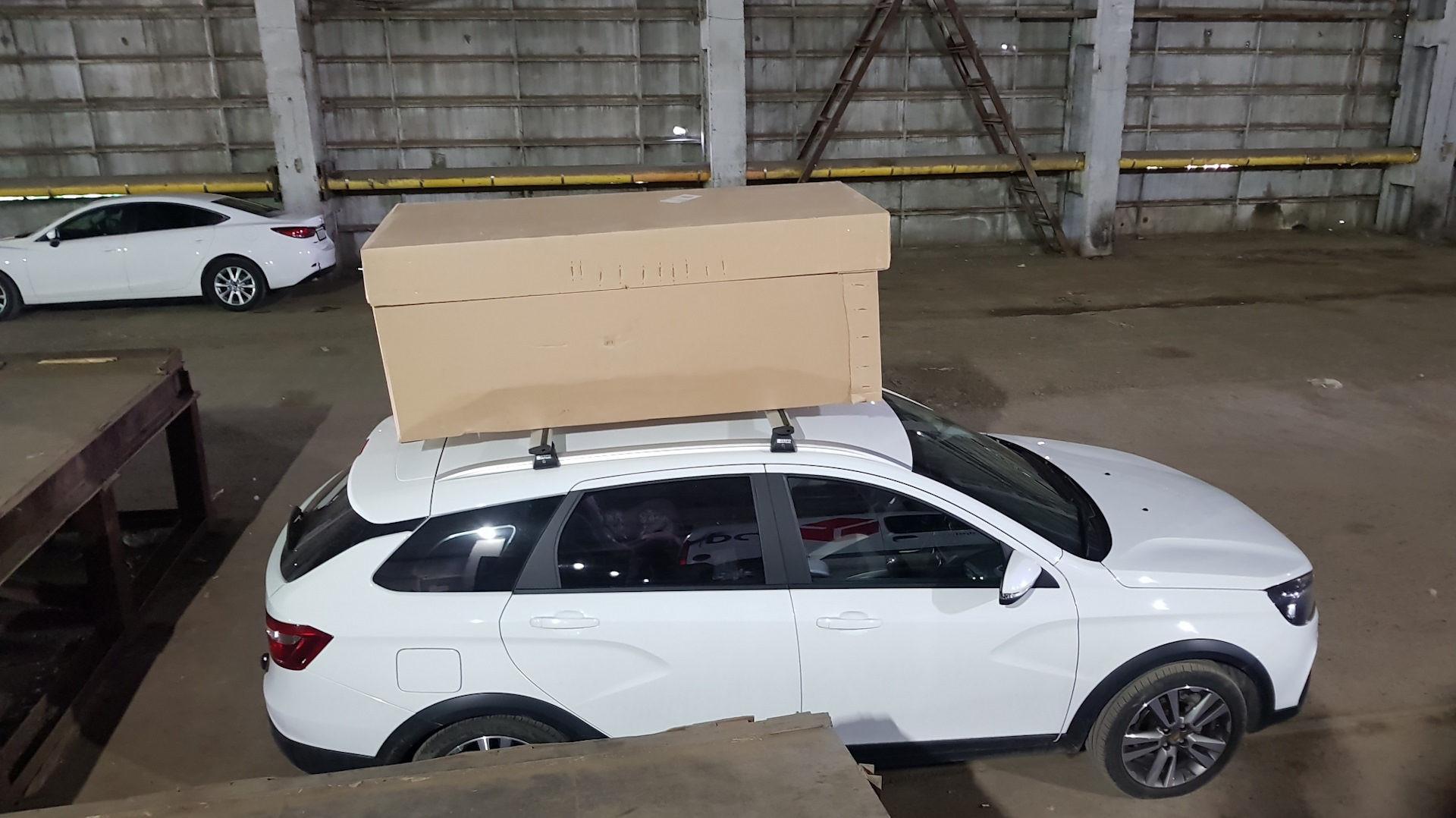 Ящик на крыше весты
