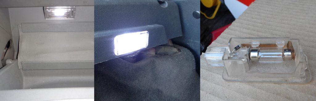 Замена лампы бардачка и багажника Kalina